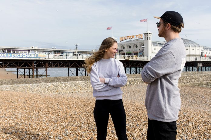 Anna of the North on Brighton seafront