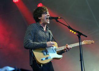 Circa Waves' Kieran Shudall on stage at Liverpool Sound City