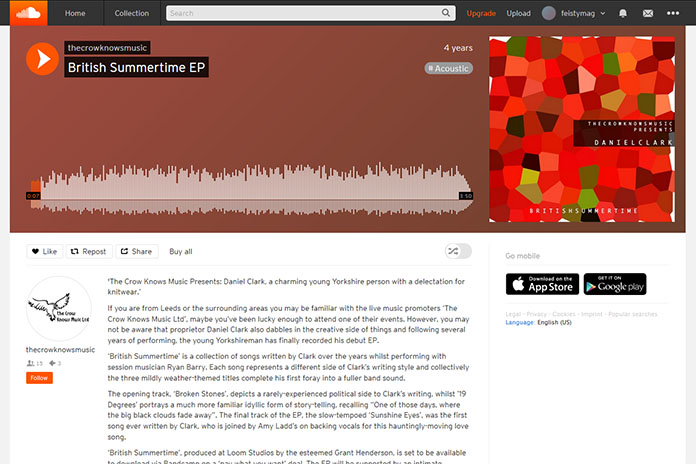 Daniel Clark's British Summertime EP on SoundCloud