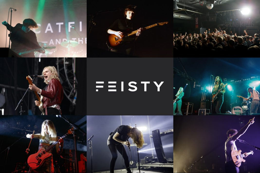 Some of the artists featured in the playlist. Clockwise from top left: Catfish and the Bottlemen, Daughter, Spring King, INHEAVEN, Foals, CHVRCHES, Pumarosa and Sundara Karma