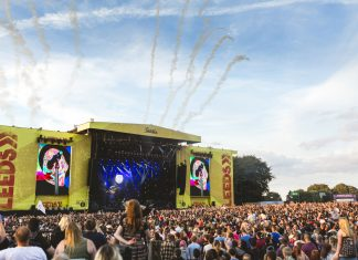 The main stage at Leeds Festival 2016 during Fall Out Boy's set