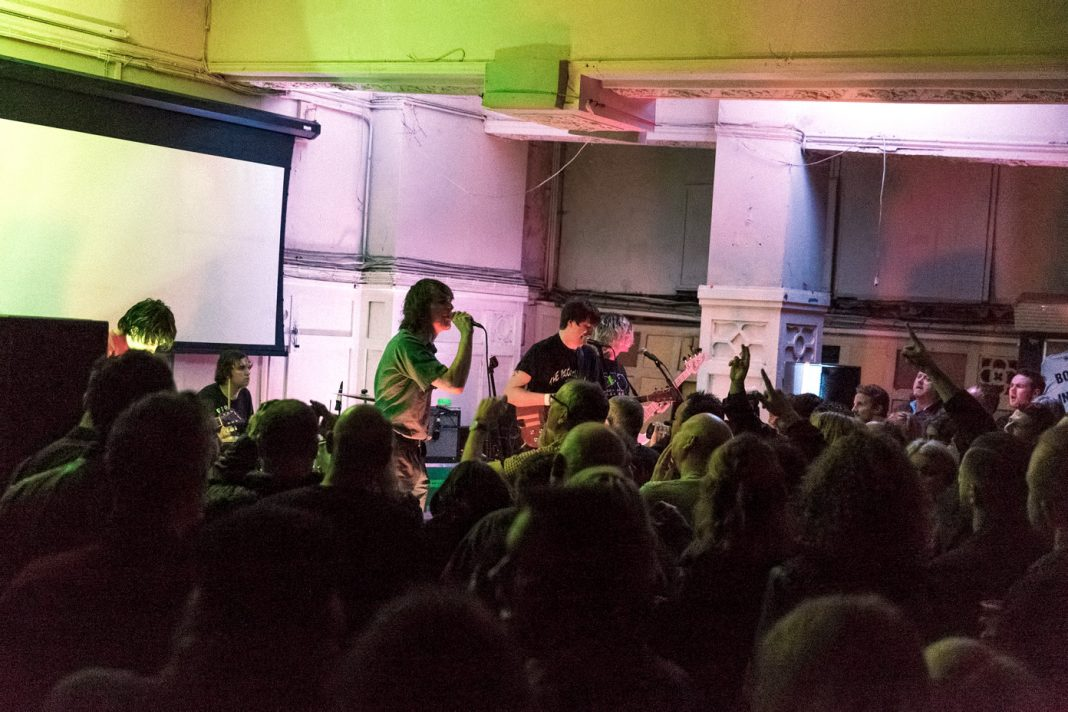 Cabbage on stage at Picture House Social in Sheffield, UK on 3 February 2017. Photo: Katy Blackwood