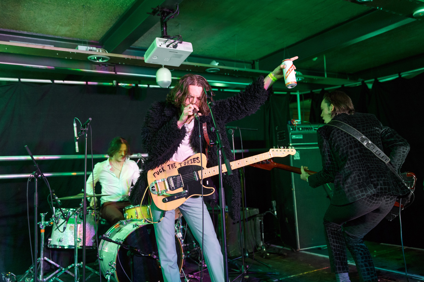 The Blinders performing at 2Q Festival in Derby, UK on 1 April 2017. Photo: Katy Blackwood