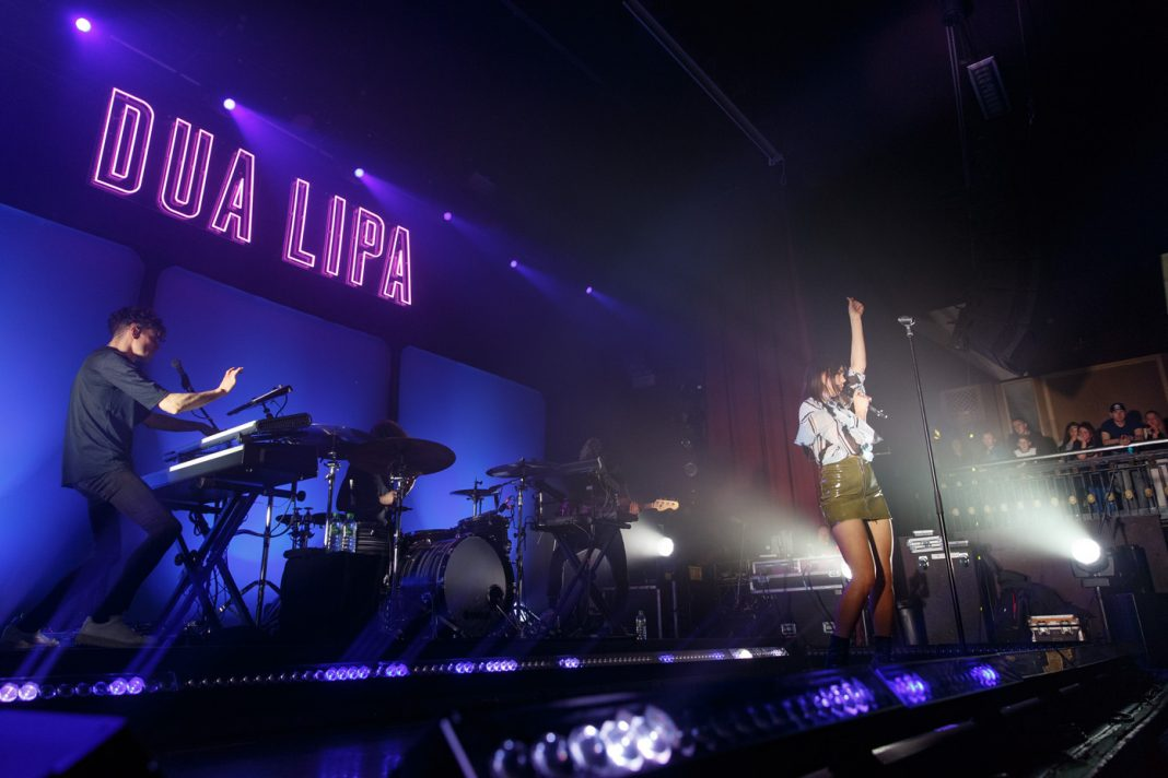 Dua Lipa on stage at the O2 Ritz Manchester on 12 April 2017. Photo: Katy Blackwood