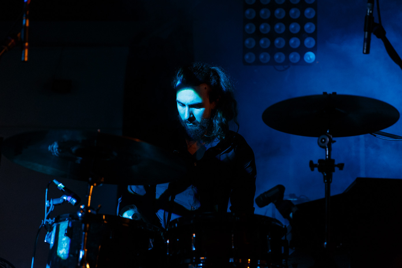 Jack Clark, drummer of Eyre Llew, at 2Q Festival 2017. Photo: Katy Blackwood