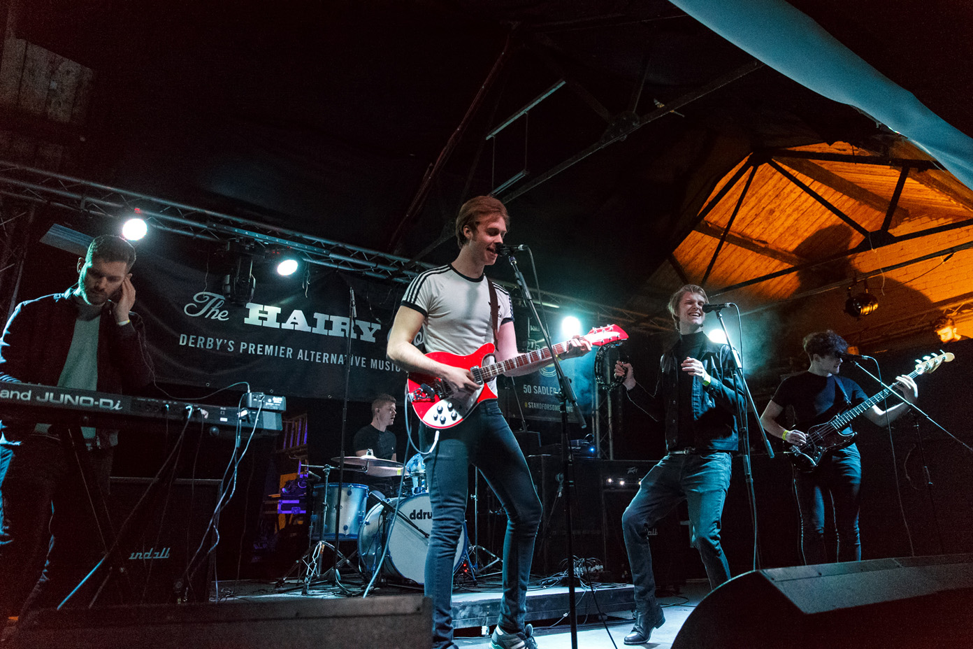 The Modern Strangers on stage at The Hairy Dog during 2Q Festival 2017. Photo: Katy Blackwood