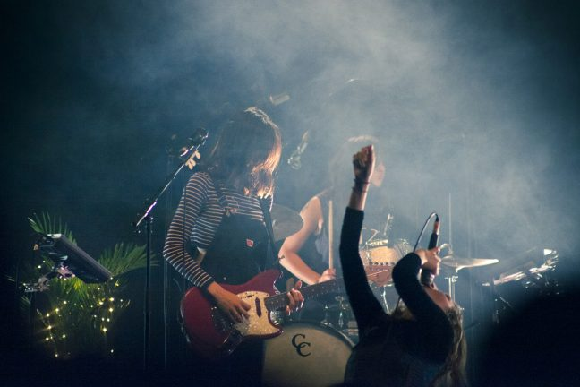 Warpaint on stage at Brighton Dome on 29 March 2017. Photo: Gili Dailes