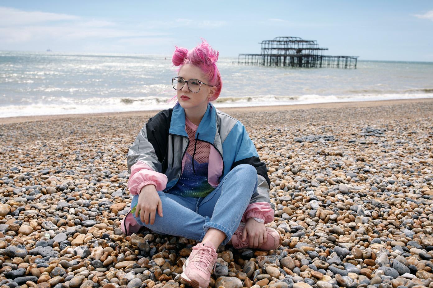 Be Charlotte's Charlotte Brimner in Brighton, UK on 19 May 2017. Photo: Katy Blackwood