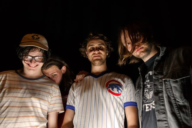 Get Inuit pose following their set at Sound Control in Manchester on 12 May 2017. Photo: Katy Blackwood