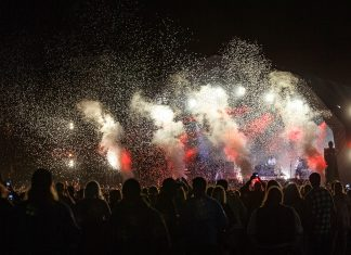 The Kooks' headline set closed with confetti cannons. Photo: Katy Blackwood