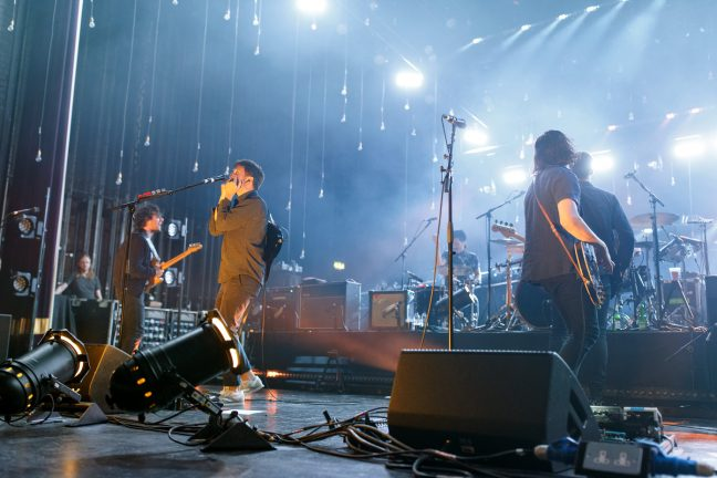 The Maccabees on stage at the O2 Apollo Manchester on 27 June 2017 during their farewell tour. Photo: Katy Blackwood