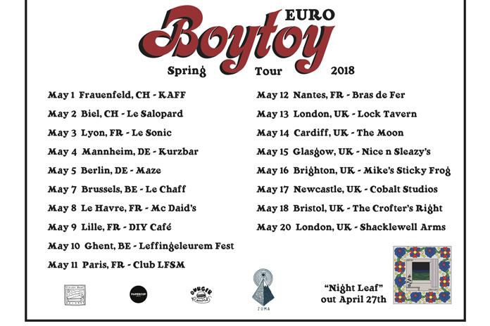 BOYTOY's tour poster